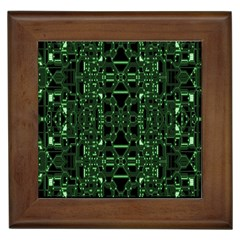 An Overly Large Geometric Representation Of A Circuit Board Framed Tiles by Simbadda