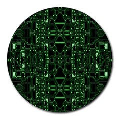 An Overly Large Geometric Representation Of A Circuit Board Round Mousepads by Simbadda
