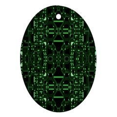 An Overly Large Geometric Representation Of A Circuit Board Ornament (oval) by Simbadda