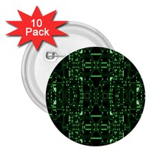 An Overly Large Geometric Representation Of A Circuit Board 2 25  Buttons (10 Pack)  by Simbadda