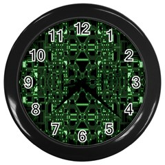 An Overly Large Geometric Representation Of A Circuit Board Wall Clocks (black) by Simbadda
