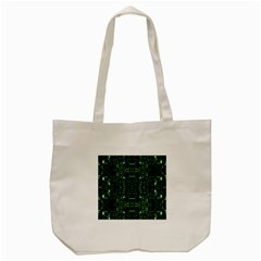 An Overly Large Geometric Representation Of A Circuit Board Tote Bag (cream) by Simbadda