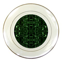 An Overly Large Geometric Representation Of A Circuit Board Porcelain Plates by Simbadda