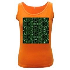An Overly Large Geometric Representation Of A Circuit Board Women s Dark Tank Top by Simbadda