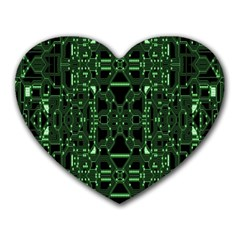 An Overly Large Geometric Representation Of A Circuit Board Heart Mousepads by Simbadda