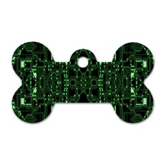 An Overly Large Geometric Representation Of A Circuit Board Dog Tag Bone (two Sides) by Simbadda