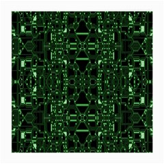 An Overly Large Geometric Representation Of A Circuit Board Medium Glasses Cloth (2 Side) by Simbadda