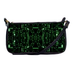 An Overly Large Geometric Representation Of A Circuit Board Shoulder Clutch Bags by Simbadda