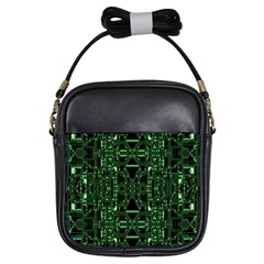 An Overly Large Geometric Representation Of A Circuit Board Girls Sling Bags by Simbadda