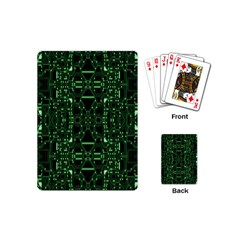 An Overly Large Geometric Representation Of A Circuit Board Playing Cards (mini)  by Simbadda