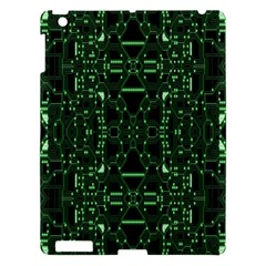 An Overly Large Geometric Representation Of A Circuit Board Apple Ipad 3/4 Hardshell Case by Simbadda