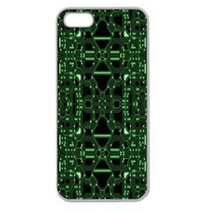 An Overly Large Geometric Representation Of A Circuit Board Apple Seamless Iphone 5 Case (clear) by Simbadda