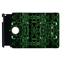 An Overly Large Geometric Representation Of A Circuit Board Apple Ipad 3/4 Flip 360 Case by Simbadda