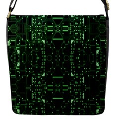 An Overly Large Geometric Representation Of A Circuit Board Flap Messenger Bag (s) by Simbadda