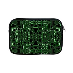 An Overly Large Geometric Representation Of A Circuit Board Apple Ipad Mini Zipper Cases by Simbadda
