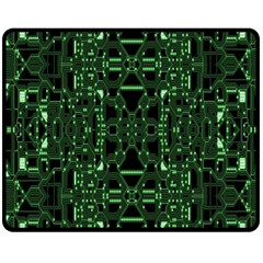An Overly Large Geometric Representation Of A Circuit Board Double Sided Fleece Blanket (medium)  by Simbadda