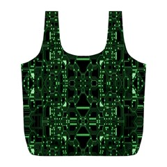 An Overly Large Geometric Representation Of A Circuit Board Full Print Recycle Bags (l)  by Simbadda