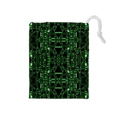 An Overly Large Geometric Representation Of A Circuit Board Drawstring Pouches (medium)  by Simbadda