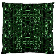 An Overly Large Geometric Representation Of A Circuit Board Standard Flano Cushion Case (one Side) by Simbadda