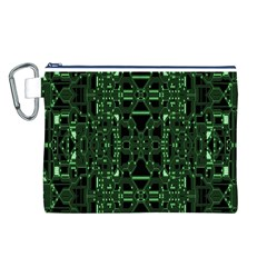 An Overly Large Geometric Representation Of A Circuit Board Canvas Cosmetic Bag (l) by Simbadda