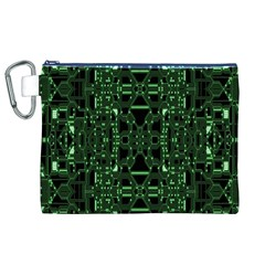 An Overly Large Geometric Representation Of A Circuit Board Canvas Cosmetic Bag (xl) by Simbadda