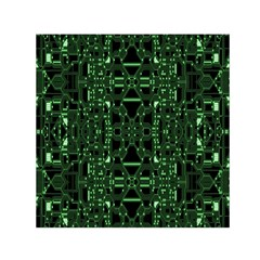 An Overly Large Geometric Representation Of A Circuit Board Small Satin Scarf (square) by Simbadda