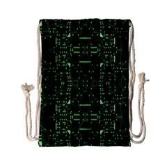 An Overly Large Geometric Representation Of A Circuit Board Drawstring Bag (small) by Simbadda