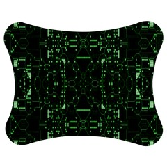 An Overly Large Geometric Representation Of A Circuit Board Jigsaw Puzzle Photo Stand (bow) by Simbadda