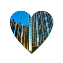 Two Abstract Architectural Patterns Heart Magnet by Simbadda