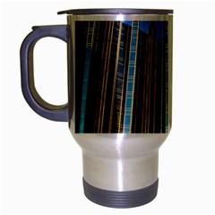 Two Abstract Architectural Patterns Travel Mug (silver Gray) by Simbadda