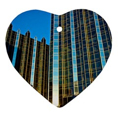 Two Abstract Architectural Patterns Heart Ornament (two Sides) by Simbadda