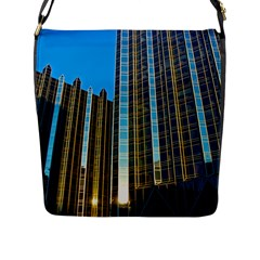 Two Abstract Architectural Patterns Flap Messenger Bag (l)  by Simbadda