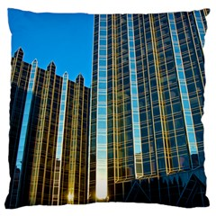 Two Abstract Architectural Patterns Standard Flano Cushion Case (one Side) by Simbadda