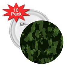 Camouflage Green Army Texture 2 25  Buttons (10 Pack)  by Simbadda