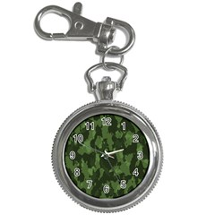 Camouflage Green Army Texture Key Chain Watches by Simbadda