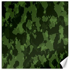 Camouflage Green Army Texture Canvas 12  X 12   by Simbadda