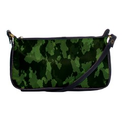 Camouflage Green Army Texture Shoulder Clutch Bags by Simbadda