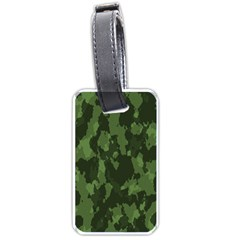 Camouflage Green Army Texture Luggage Tags (two Sides) by Simbadda