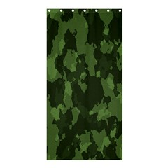 Camouflage Green Army Texture Shower Curtain 36  X 72  (stall)  by Simbadda