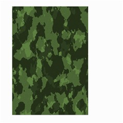 Camouflage Green Army Texture Large Garden Flag (two Sides) by Simbadda