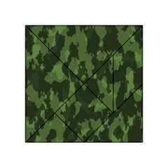 Camouflage Green Army Texture Acrylic Tangram Puzzle (4  X 4 ) by Simbadda