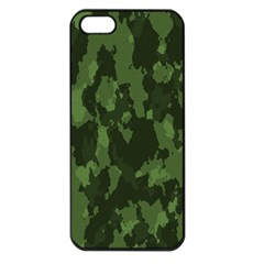 Camouflage Green Army Texture Apple Iphone 5 Seamless Case (black) by Simbadda