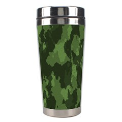 Camouflage Green Army Texture Stainless Steel Travel Tumblers by Simbadda