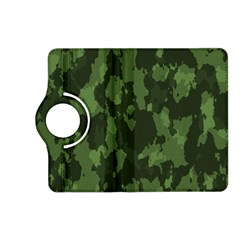 Camouflage Green Army Texture Kindle Fire Hd (2013) Flip 360 Case by Simbadda