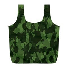 Camouflage Green Army Texture Full Print Recycle Bags (l)  by Simbadda