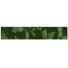 Camouflage Green Army Texture Flano Scarf (large) by Simbadda