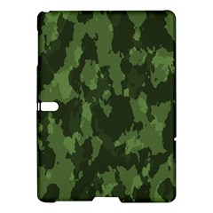 Camouflage Green Army Texture Samsung Galaxy Tab S (10 5 ) Hardshell Case  by Simbadda