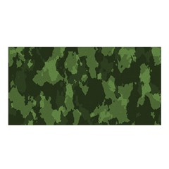Camouflage Green Army Texture Satin Shawl by Simbadda