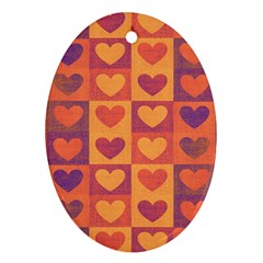 Pattern Oval Ornament (two Sides) by Valentinaart