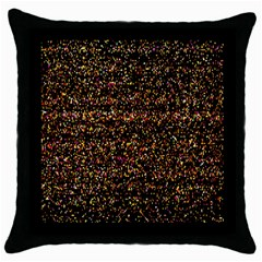 Pixel Pattern Colorful And Glowing Pixelated Throw Pillow Case (black) by Simbadda